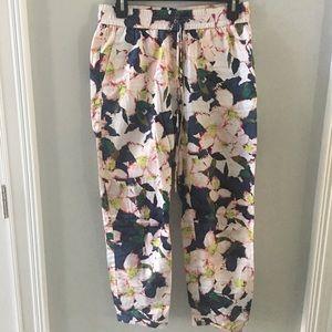 J Crew Floral Cotton Pants Joggers Size 4